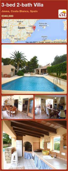 3-bed 2-bath Villa in Javea, Costa Blanca, Spain ►€340,000 #PropertyForSaleInSpain
