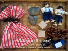 Montessori stereognostic bag - a mystery bag from An Everyday Story