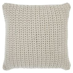 John Lewis Croft Collection Ribbed Knit Cushion | johnlewis.com