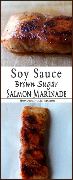 Soy Sauce Brown Sugar Marinade Even Salmon haters will love salmon with this Soy Sauce Brown Sugar Marinade…