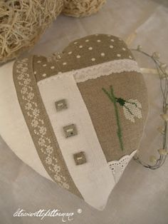 Linen and Lace Heart | REPINNED