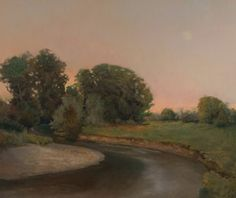 Moonrise on the Pacolet - Oil by Peter Campbell 38 x 42 $6,850