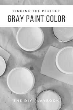 We've compiled a list of the top gray paint colors! If you're looking for gray paints to use in your home be sure to check out this list!