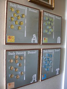 """DIY: Daily """"Duties"""" Board, taylor it to what you do in your house.  The Creative Homemaker: KIDS"""