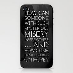 Where there's misery there's hope iPhone & iPod Skin by ivette - $15.00