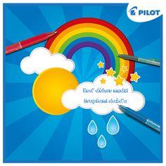 A v sychravom jesennom počasí to platí dvojnásobne! :) #happywriting #autumn #frixion #rainbow #clouds #rain