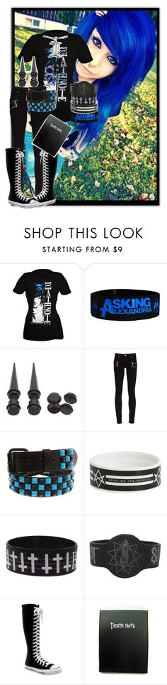"""Untitled #34"" by burn-the-pictures ❤ liked on Polyvore featuring Paige Denim, Converse, deathnote, emo, scene and emogirl"