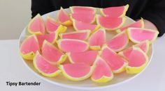 Check out the Pink Lemonade Jello Shots! You can't go wrong with these at your next party! For the recipe, visit us here: http://www.tipsybartender.com/blog/pink-lemonade-jello-shots