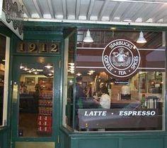 Original Starbucks, location at Pike's Place Market.