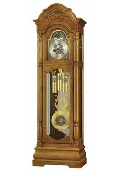 611-144 Scarborough, Howard Miller Grandfather Clock, Legacy Oak Finish