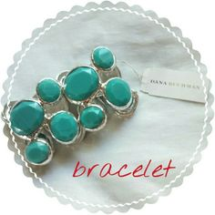 """Dana Buchman Stretch Bracelet.  FINAL PRICE Faux turquoise and silver tone. Stretches. Never worn. Has some weight to it. Measured one side at 3.5 """". I have a small wrist, is too big for me. True color in first photo. Dana Buchman Jewelry Bracelets"""
