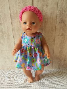 Pipa Greenström Hobby handwerk uut de Noordkop: BABY BORN Doll Sewing Patterns, Doll Clothes Patterns, Clothing Patterns, Baby Born Clothes, Shopkins, Baby Toys, American Girl, Sewing Crafts, Free Pattern