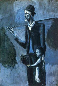 Pablo Picasso - El vendedor de muérdago, 1902-03