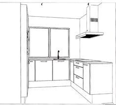 Onze nieuwe keuken, aanzicht 1