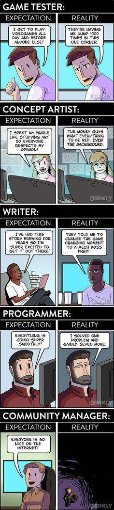 Videogame Jobs: Expectation vs Reality