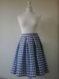 Gingham skirt; retro
