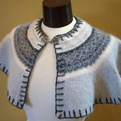 recycle a sweater into a felted capelet