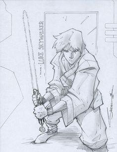 Cool Luke Skywalker Star Wasr Art