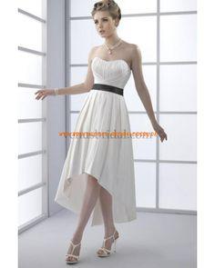 Schönste Brautkleider aus Satin A-Linie mit schwarz Band online 2012
