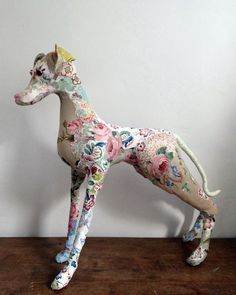 handstitched soft sculpture by Bryony Rose Jennings via prettyscruffy.com