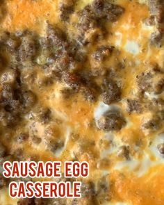 Sausage Hashbrown Breakfast Casserole is a filling, hearty and delicious way to start off your morning! Once you taste the combined flavors of this awesome morning bake, you will never want to skip br Sausage Egg Bake, Sausage Hashbrown Breakfast Casserole, Breakfast Sausage Recipes, Best Breakfast Casserole, Sausage And Egg, Brunch Recipes, Crockpot Egg Bake, Easy Sausage Casserole, Egg Bake Casserole