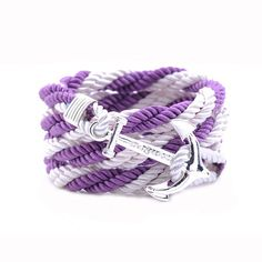 AlumniCrew Purple/White  Are you ready to rock your school colors in authentic Alumni Crew Style? The Joseph Nogucci Alumni Crew Bracelet Collection has brought the ancient symbolism of nautical exploration and turned it into a fashion statement that says a lot about the adventurer in you and is designed to make a splash by letting you flaunt your school spirit. - See more at: http://www.josephnogucci.com/products/alumnicrew-blue-gold#sthash.3VjePkBK.dpuf