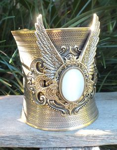 My goddess winged cuff.  Copyright 2012 and beyond, made by 'artistic designs - Flights of Fancy'