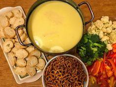 Quick, easy, delicious cheese fondue from scratch