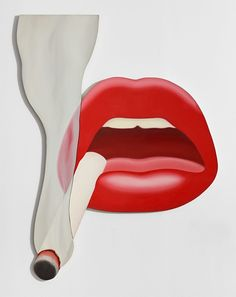 """"""" Smoker, 1 (Mouth, 12),"""" by Tom Wesselmann"""