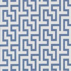 Multi Upholstery Drapery Fabric -  Blue Twill Fabric Pattern