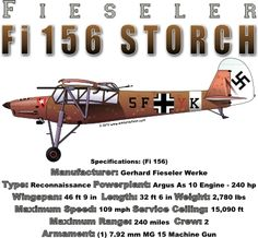 WARBIRDSHIRTS.COM presents WWII T-Shirts, Polos, and Caps, Fighters, Bombers, Recon, Attack, World War Two. The Fi 156 Storch
