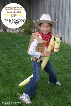 It's a Western Party - Cowboy Round-up Game with awesome Pool Noodle Horses you can make.