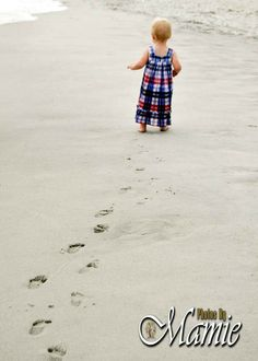 footprints in the sand #beach