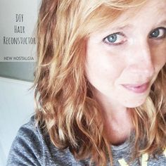 Homemade Hair Reconstructor--3 ingredients & recommended by professional hair stylist!  #DIY #Hair