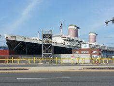 6/22/13 - The SS United States.  She is now docked in Philadelphia, across the street from an IKEA.  I was ignorant about her until yesterday.  She should be saved.  https://www.savetheunitedstates.org/