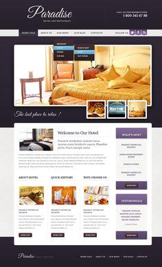 Paradise Hotel Drupal Templates by Elza Hotel Website Templates, Hotel Website Design, Web Design Software, Web Design Services, Paradise Hotel, Premium Hotel, Web Layout, Layout Design, Tourism Website