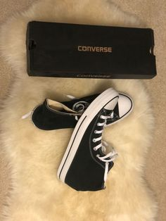 fe801cfd4fd4 Converse Chuck Taylors high tops black never worn Size 11.5  fashion   clothing  shoes