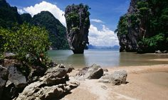 A beach at Phang Nga Bay on Thailand's Andaman coast. Photograph: Alamy