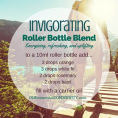 """invigorating"" roller bottle blend energizes, refreshes, and uplifts-- LOVE…"