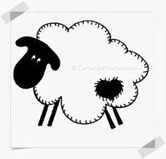 Prim Sheep Doodle Pattern