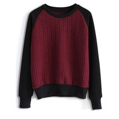 Chicwish Embossed Jumper in Wine