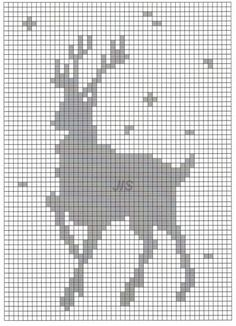 Knitting Charts, Knitting Stitches, Baby Knitting, Knitting Patterns, Cross Stitch Calculator, Cross Stitch Charts, Cross Stitch Patterns, Crochet Deer, Crochet Chart