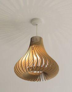Laser Cut Lamps, Laser Cut Wood, Laser Cutting, Wooden Lampshade, Wood Lamps, Lampshades, Light Fittings, Light Fixtures, Laser Cutter Projects