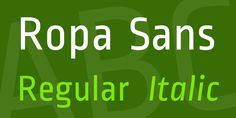 Ropa Sans from 1001fonts.com