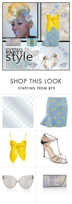 """Sea Salt and Polka Dots"" by traunicorn ❤ liked on Polyvore featuring Jonathan Adler, VIVETTA, Leal Daccarett, Pink Paradox London, Linda Farrow, KOTUR, Guide London, Topshop and vintage"