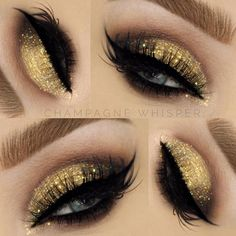 Yellow shimmer eye