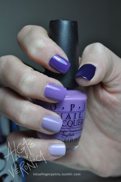 Nails are a good accessory and they come in many different shades of purple......violet, deep purple, lavender,
