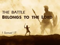 "My strength comes from the Lord, the battle belongs to the Lord - ""There's none so blind as those who will not listen."""