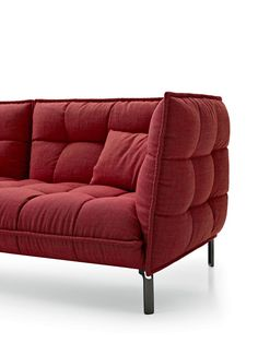 Tufted upholstered fabric sofa HUSK SOFA Husk Collection by B&B Italia @bebitalia
