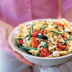"""""""Mediterranean"""" pasta salad recipe."""